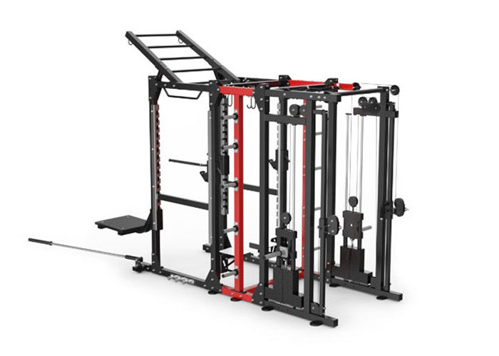 Professional Commercial Multi Station Gym Equipment , Cable Power Combo Rack Machine